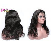 Wholesale 130% Density Natural Human Hair Lace Front Wigs With Adjusted Elastic Band Brown from china suppliers