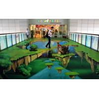 Wholesale Custom Non-slip 3D Floor Stickers For Advertisement In Shopmarket from china suppliers