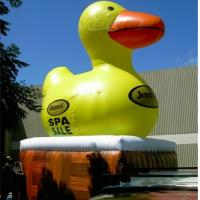 Wholesale PVC Tarpaulin Big Inflatable Yellow Duck Waterproof With Advertising Banner from china suppliers