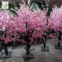 Wholesale UVG china wedding supplies party decoration pink artificial peach blossom trees for sale CHR152 from china suppliers