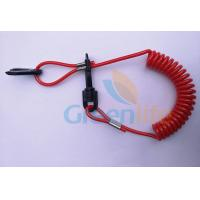 Wholesale Hot Selling Solid Red Elastic Kill Swith w/Hand Grips Key Floating Lanyard from china suppliers