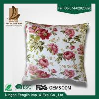 Wholesale Home Decorative Pink Flower Printed PP Cotton / Foam Sofa Cushions Replacement from china suppliers