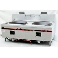 Buy cheap Chinese Style Two Burner Big Wok Stove Strong Firebrick Burner 250W Power Blower from wholesalers