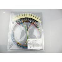 12 Core Single Mode Fiber Optic Cable , FC SC LC 0.9mm Single Mode Fiber Pigtails