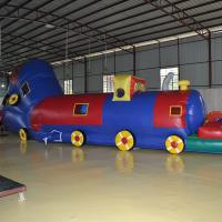 Wholesale 8 Meters PVC  Inflatable Sport Games Inflatable Tunnel  Train  For Kids WIith Blower from china suppliers