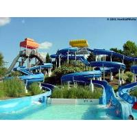 Wholesale Huge Outdoor Toddler Fiberglass Water Slide , Open Spiral Slide 5 Rider from china suppliers