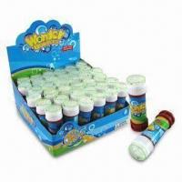 Wholesale Bubble Blower in Plastic Bottle, Suitable for Children's, Measuring 3.5 x 10cm from china suppliers