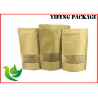 Wholesale Kraft Paper Food Packaging Bags / Gravnre Printing Kraft Paper Pouch SGS Certificate from china suppliers
