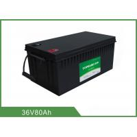 Buy cheap Customized 36V 80AH Floor Scrubber Battery Black Color High Consistency from wholesalers