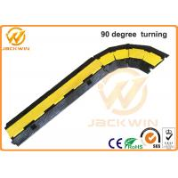 Wholesale Yellow / Black 2 Channel Rubber Corner Guard Rubber Cable Protection Ramps For Event from china suppliers