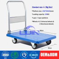 Wholesale Four wheel Platform Hand Trolley / steel constructed folding hand cart from china suppliers