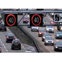 Wholesale High Resolution Speed Warning Signs , LED Display Signs Wiht Red Circle / Amber Number from china suppliers