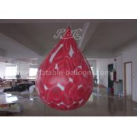 Wholesale 2.5M Red PVC Inflatable Commercial Helium Balloons Cell Printing Water Drop Shaped from china suppliers