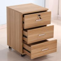 Wholesale Mobile Office 3 Drawer Wood File Cabinet Furniture With 4 Casters Scratch Proof from china suppliers