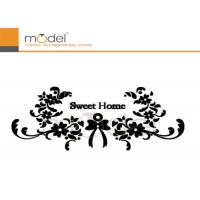 Wholesale Modern Decorative Crystal Wall Stickers Art Black Flower Vinyl Decals from china suppliers