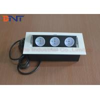 Wholesale White Color 3* French Plug Desk Mounted Power Sockets For High - Class Office from china suppliers