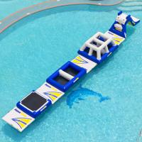 Wholesale Blue Inflatable Water Park Inflatable Obstacle Courses Customized from china suppliers