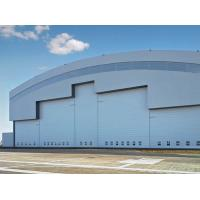 Wholesale Prefab Curve Roofing System Steel Aircraft Hangars With Electrical Slide Doors from china suppliers