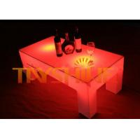 Wholesale Super Bright LED Pub Table With 16 Changing Color / Rectangular LED Coffee Table from china suppliers