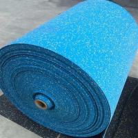 Wholesale Highly Elastic Rubber Sports Flooring , Sky Blue Gym Flooring Rolls from china suppliers