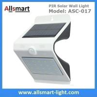 Buy cheap NEW 24LED Triangle PIR Solar Sensor Motion Wall Light Fixture White Lampshade Warm White Back LED Outdoor Wall Mounted from wholesalers