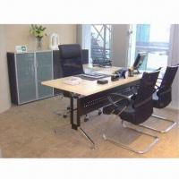 Wholesale Melamine L Shape Desk with Side Table and Steel Modesty, Available in Various Sizes from china suppliers