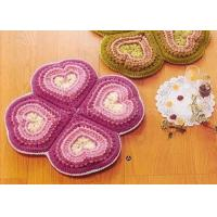 Wholesale Pink Crochet Floor Rug Four Petals Shape Washable Crochet Flower Coasters from china suppliers
