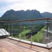 Wholesale Stainless steel commercial balustrade with ultra clear glass panel design from china suppliers