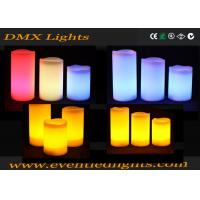 Wholesale Color Changing Pillar Led Flameless Candles With Remote Control , ON / OFF button from china suppliers