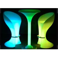 Wholesale Garden RGB Led Coffee Table / Lighted Cocktail Tables IP68 PE Material from china suppliers