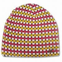 Buy cheap Women's Jacquard Beanie, Customized Designs are Accepted from wholesalers