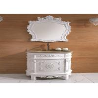 Wholesale Single Door White Classic Bathroom Cabinets Wooden Floor Standing Vanity Units Freestanding from china suppliers
