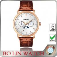 Wholesale Moon Phase Brand Genuine Leather Watches For Women True Nail Index Style from china suppliers