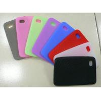 Wholesale Red / Black / White Customized Silicone Cell Phone Cover / Case For Apple iPhone from china suppliers
