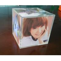 Wholesale Clear perspex photo frame acrylic cube photo displays enviromental from china suppliers