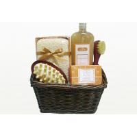 Wholesale Natural Chocolate Fragrance Bubble Bath Gift Set in Basket with Shower Gel 350ml from china suppliers