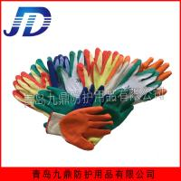Quality Work safety industrial latex wrinkling nylon gloves for sale