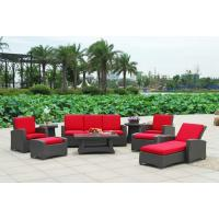 9pcs rattan garden set with lounge