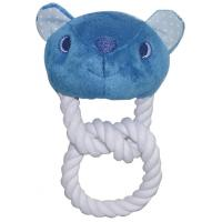 Wholesale Puppy Teething Rope Toys With Squeaker Washable Animals Head from china suppliers