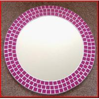 Wholesale Circle Mirror Decrative Mirror Beveled Mirror pink frame mirrors little square mosaic from china suppliers