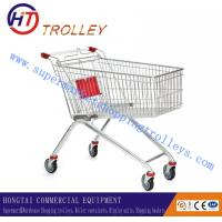 Wholesale Standard 4 Wheels Supermarket Steel Metal Shopping Cart European Style from china suppliers