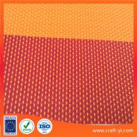 Wholesale Textilene Outdoor mesh fabric2X1 weave in red strip Anti-UV fabric from china suppliers