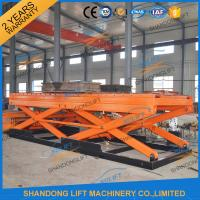 Wholesale 7T Heavy Duty Stationary Hydraulic Scissor Lift with Roller for Cargo Scissor Lift with TUV from china suppliers