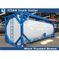China ISO tank container tanker trailer for diesel fuel , petrol , palm oil transportation on sale