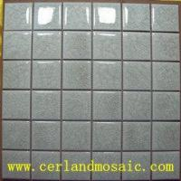 Quality Swimming Pool Crackle Glazed Ceramic Mosaic for sale