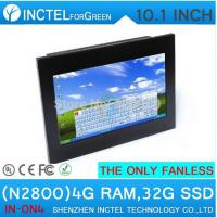 Wholesale 2015 lastest fanless all in one pc with 10.1-inch 1024 * 600 Industrial 4-wire resistive touch screen 4G RAM 32G SSD from china suppliers