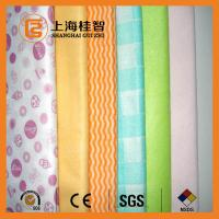Wholesale Absorbent Chemical Bond Non Woven Cleaning Cloth Blue Wave Line Square Pattern from china suppliers