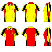 Wholesale Yellow / Red / Black Children 4 - 16 Silk Screen Printing Sublimated Polo 100% Polyester from china suppliers