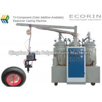 Wholesale 15KW High Efficient Intelligent Three Components Automatic Polyurethane Foam Machine For solid  PU wheel and tire from china suppliers