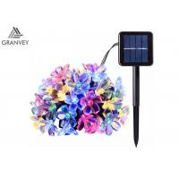 China 50LED Solar Powered Outdoor String Lights , Waterproof Solar Christmas LightsCherry Floral Decoration on sale